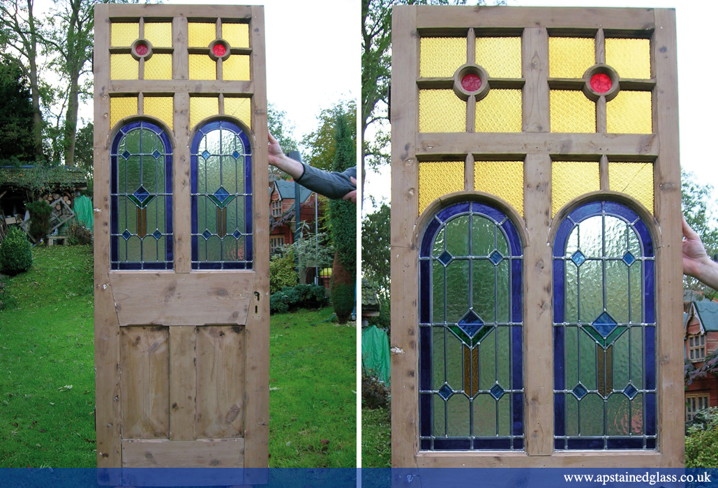 AP Stained Glass Andrew Patch Design and Restoration Door Panels 6